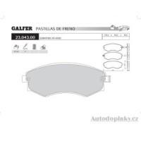 GALFER přední brzdové desky typ FDT 1055 SSANGYONG/OFF-ROAD REXTON 320 24V -- rok výroby 02- ( brzdový systém SUM )