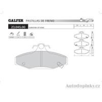 GALFER zadní brzdové desky typ FDA 1045 SSANGYONG/OFF-ROAD MJ 3.2i 24V -- rok výroby 99- ( brzdový systém GIR )